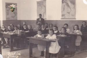 Gli alunni della V elementare nel 1952